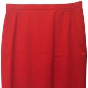 Escada Red Pencil Skirt Size 14 L  NWT